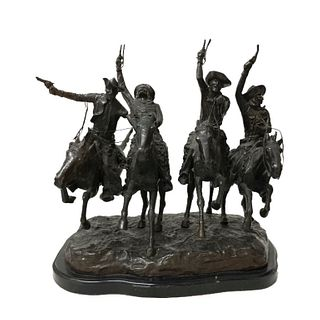 """Frederic Remington """"Coming Thru The Rye"""" Sculpture"""