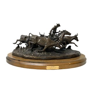 "Frederic Remington ""The Stampede"" Bronze Sculpture"
