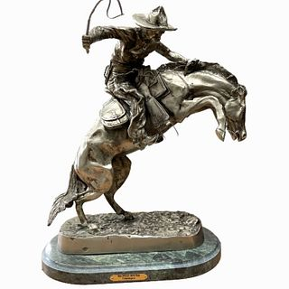 """Frederic Remington """"The Bronco Buster""""."""