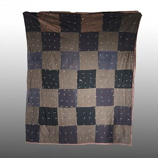 African American Quilt (black green squares)