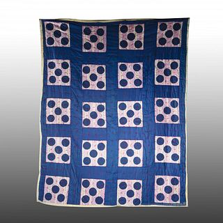 African American Quilt (blue circles)
