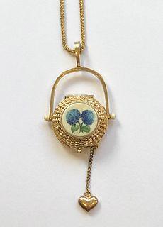 Diana Kim England 14k Gold Nantucket Basket Pendant-Necklace