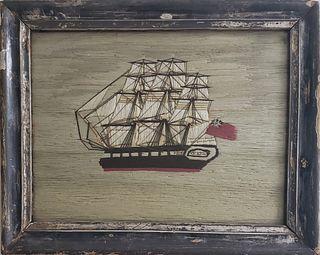 Diminutive 19th Century British Sailor's Ship Woolie