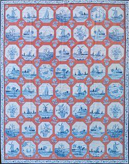 "Diamond & Baratta for Stark Carpet ""Delft China"" Needlepoint Carpet"
