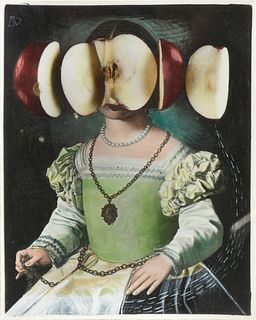 """STEVEN SELLARS (American/Texas b. 1951) A SURREAL PORTRAIT PRINT, """"Inspired by Verglace, #5,"""""""
