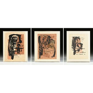 """WILLIAM (BILL) CONDON (American/Texas 1923-1998) A GROUP OF THREE PRINTS, """"Merry Christmas,"""" 1963-1983,"""