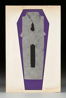 "BRIAN RICE (English b. 1936) A PRINT, ""The Death of Op Art,"" 1967,"