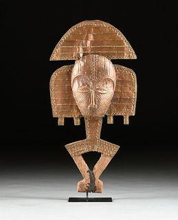 A KOTA RELIQUARY FIGURE, GABON, REPUBLIC OF THE CONGO, 20TH CENTURY,