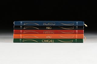"""A GROUP OF FIVE EASTON PRESS TITLES, """"Great Artists,"""" 1984-1990,"""