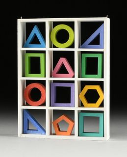 "SIBYL EDWARDS (Canadian b. 1944) A CONSTRUCTIVIST SCULPTURE, ""Twelve Shapes,"" CIRCA 1975,"