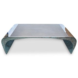 """Selina K"" Louis A. Lara X Brueton Steel Coffee Table"