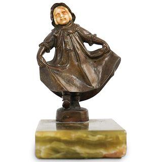 Austrian Bronze Girl Sculpture