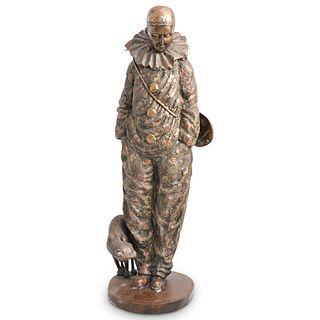 Bronze Pierrot Figure
