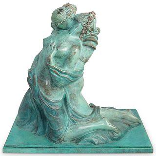 Alba Gonzales (20th Century, Italy) Erotic Bronze Sculpture