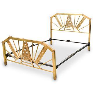 Art Deco Brass Bed Frame