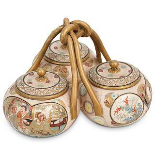 Antique Satsuma Porcelain Server