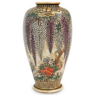 Antique Kozan Satsuma Porcelain Vase