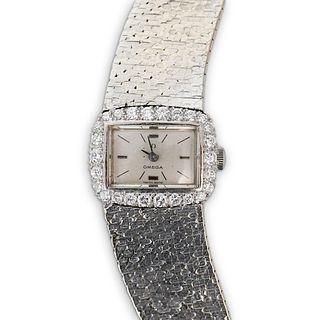 Omega 18k Gold and Diamond Ladies Watch