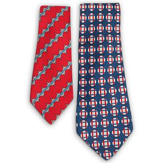 (2 Pc) Vintage Hermes Silk Ties