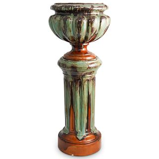 Bavent Ceramic Planter & Pedestal