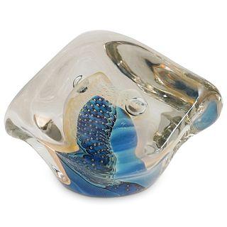 Eickholt Abstract Art Glass Paperweight