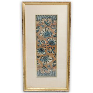 Framed Antique Chinese Embroidery Panel