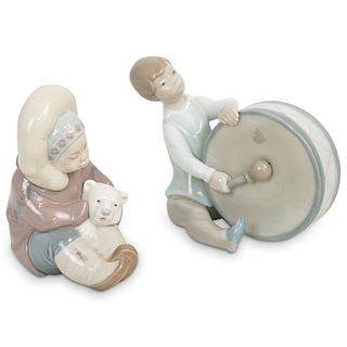(2 Pc) A Pair of Lladro Porcelain Figurines