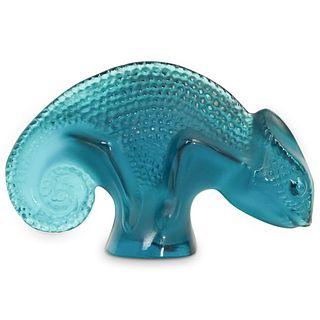 Lalique Crystal Chameleon Figurine