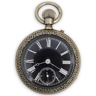 Antique Black Dial Pocket Watch