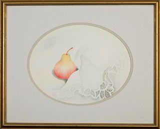 Bonnie Frederico, Pear on Lace Cloth
