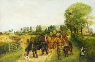 """Edwin Frederick Holt, """"The Timber Waggon"""""""