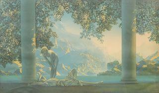 "Maxfield Parrish, ""Daybreak"" House of Art Litho"