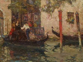 Eugenio Bonivento, Gondoliers in Venice