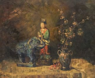Marie Weger, Scholar with Elephant and Flowers