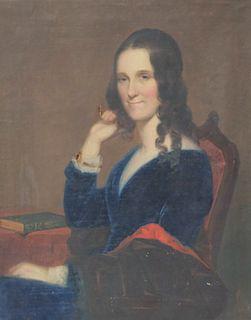 American School, Portrait of Lady w/ Ruby Bracelet