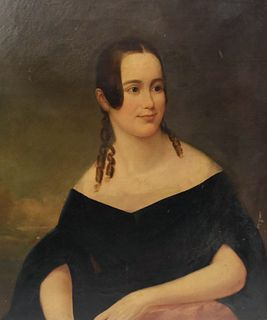 American School, Portrait of a Young Lady