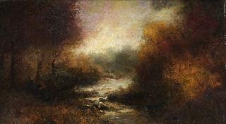 Attr. John Francis Murphy, Stream in Landscape