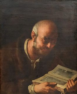Italian Old Master Painting Depicting a Scholar