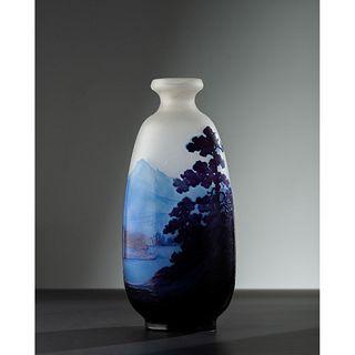 Émile Gallé, Mountain Scenic Vase