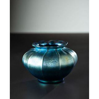Tiffany Studios, Blue Favrile Vase