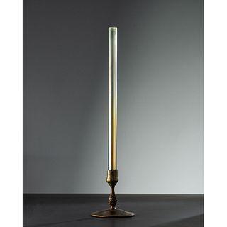 Tiffany Studios, Bud Vase with Statuary Bronze Dore Base