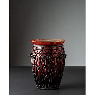 Daum and Louis Majorelle, Art Deco Vase
