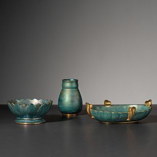 Josef Ekberg for Gustavsberg, Two Bowls and One Vase
