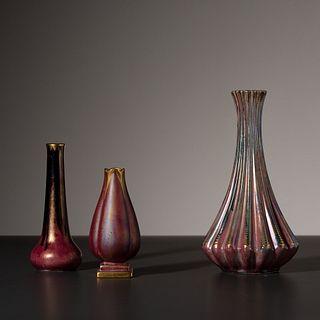 Josef Ekberg for Gustavsberg, Three Vases