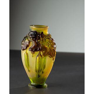 Émile Gallé, Blown-Out Vase with Gourds