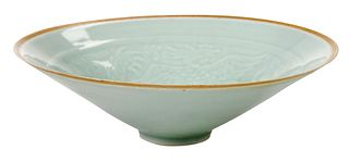 Celadon Dragon and Phoenix Bowl