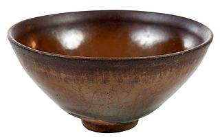 "Chinese ""Hare's Fur"" Glazed Tea Bowl"