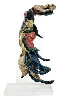 Ornate Chinese Ceramic Ledge Tile