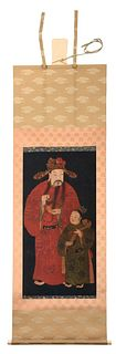 Large Chinese Hanging Scroll Painting