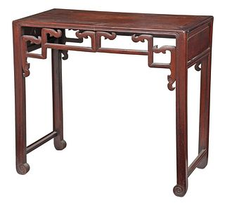 Chinese Carved Figured Hardwood Table
